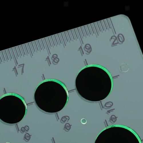 Multifunctional Plastic Drawing Radius Arc Shape Stencil Template Ruler Tool