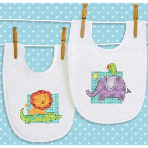 Dimensions Stamped Cross Stitch Kit Rub-A-Dub Bibs