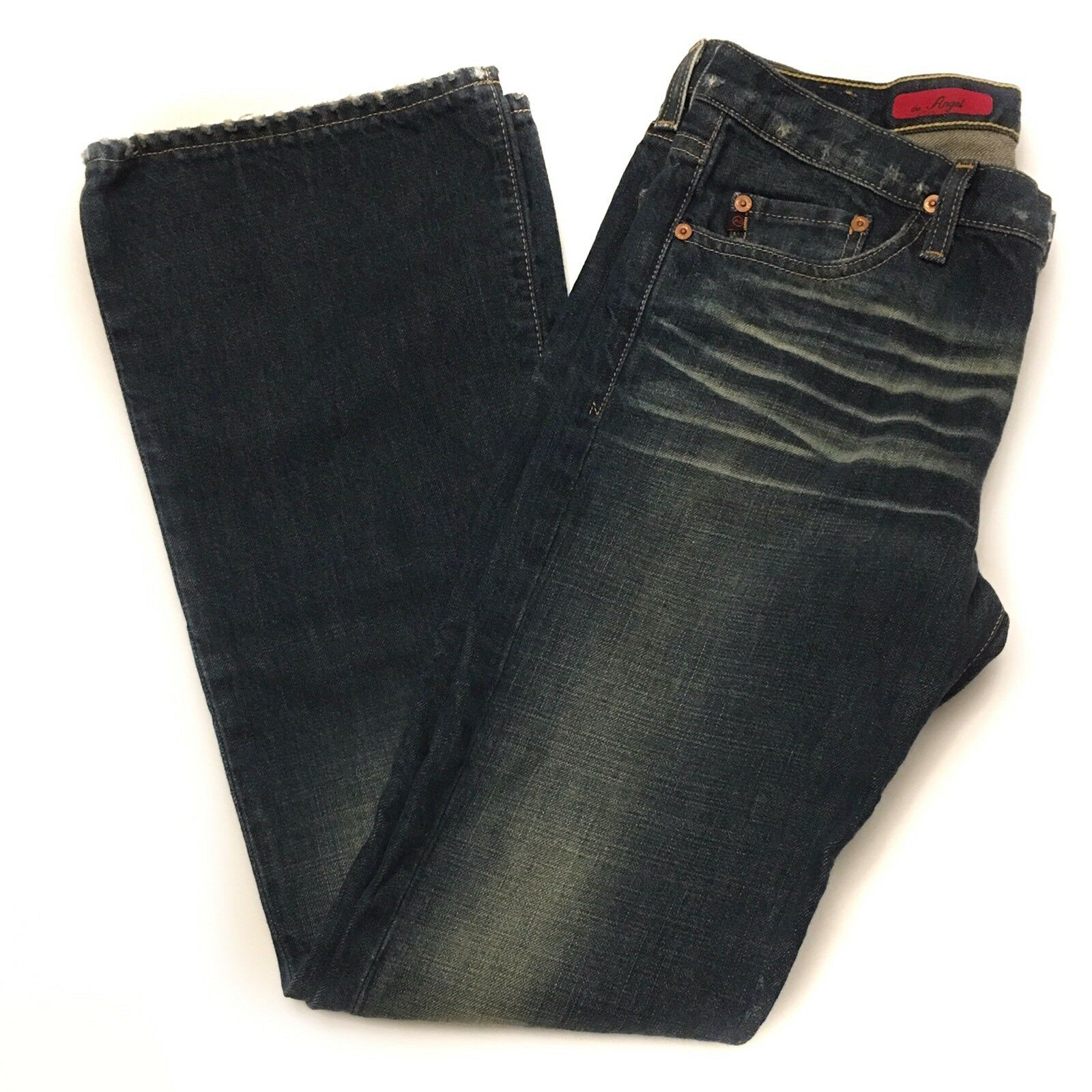 AG Adriano goldschmied Womens Jeans Size 29 Bootcut bluee Distressed Whiskering