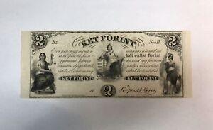 HONGRIE - 2 FORINT (1852) - Billet de banque (TTB+)