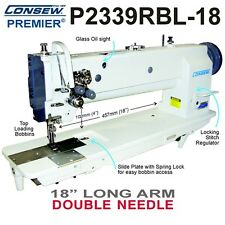Consew P2339rbl 18 Double Needle 18 Long Arm Walking Foot Withkd Stand And Servo