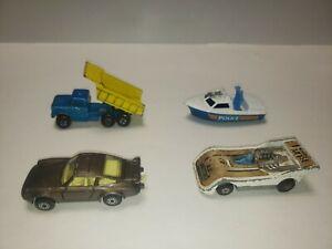 Come è 4 MATCHBOX SUPERFAST anni'70 Inghilterra Lesney USATO Ware e tara auto assortiti