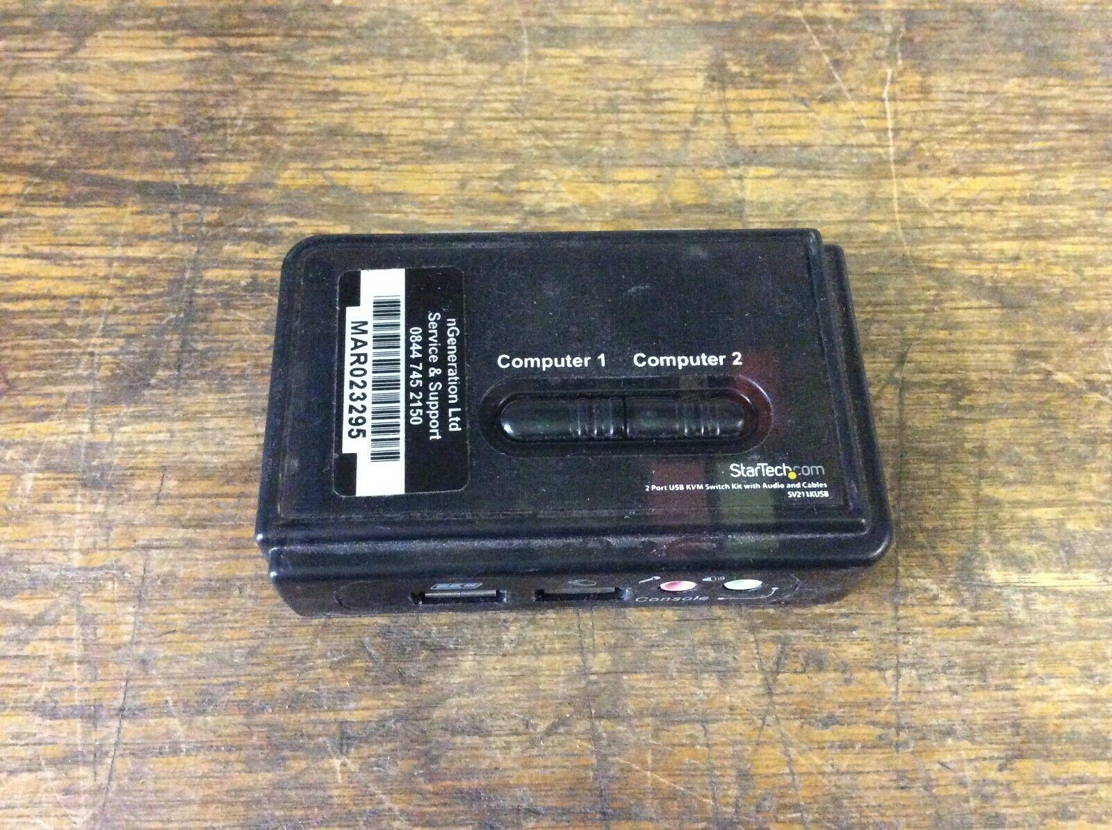 STARTECH SV211KUSB 2 PORT USB KVM SWITCH KIT 39041 B18 I5S3