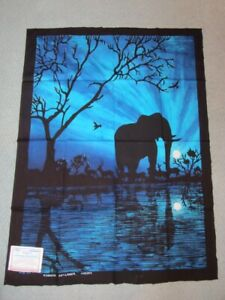 wholesale dealer fc9f5 7e3a4 Details about Art Lanka Batik Artisan Painting Ananda Abeykone Vtg Sri  Lanka Elephant Sunset