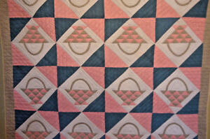 ANTIQUE-BASKET-QUILT-1880-GREAT-FABRICS-EARLY-QUILT