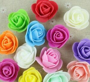 500-Mini-Artificial-Rose-Flower-Heads-Foam-Wedding-Party-Decor-Wholesale-3cm-NEW