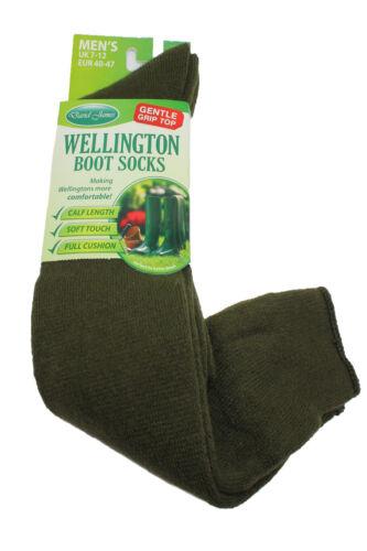 Nouveau Homme Garçons Wellie Boot Over Calf Chaussettes-Taille 7-12