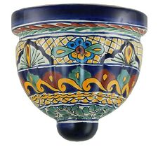 MEXICAN TALAVERA POTTERY  WALL HANGING  PLANTER CERAMIC SCONCE PLANTER 34