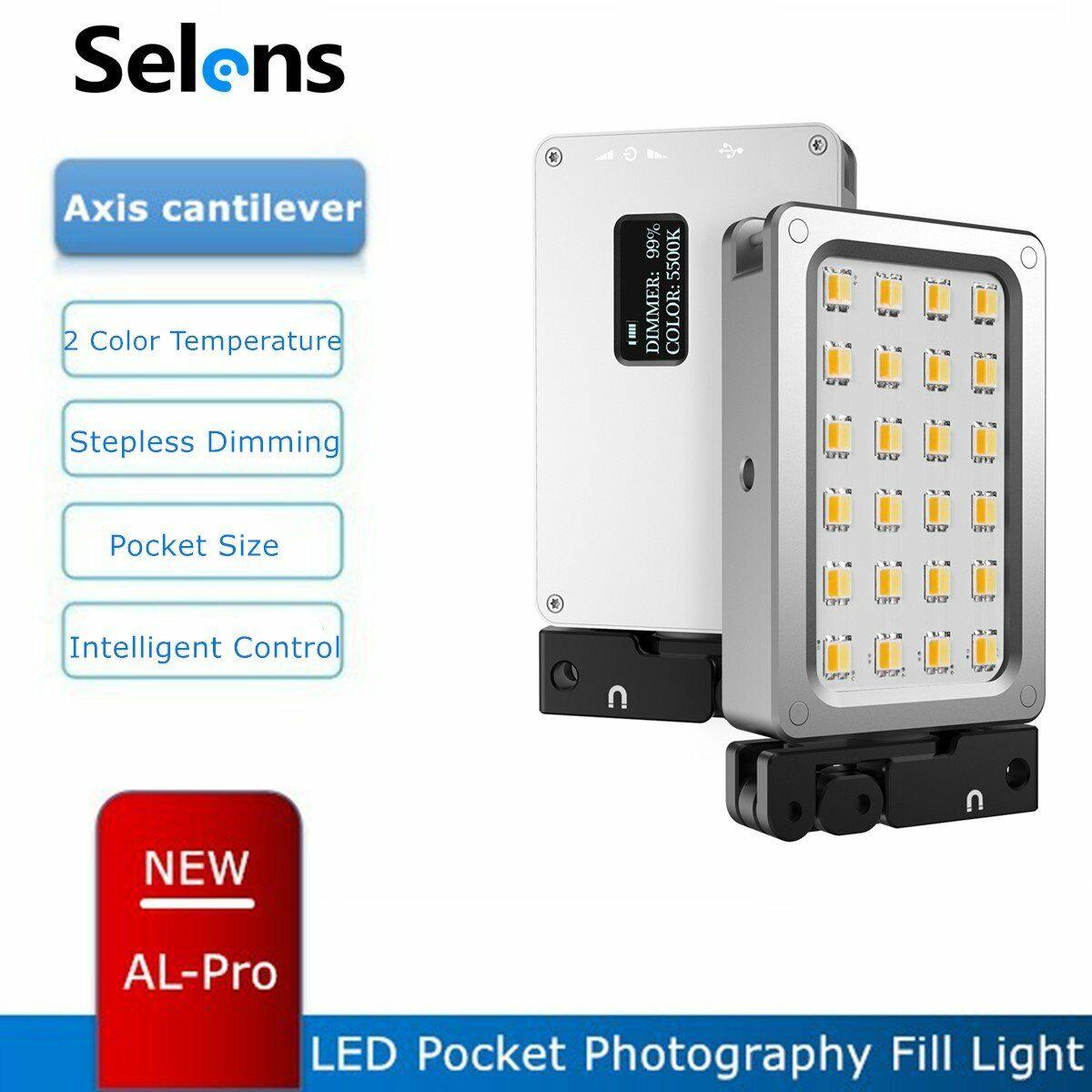 Selens AL-Pro Portable 2500-9000K Magnetic LED Flash Continuous Warm/Cool Light
