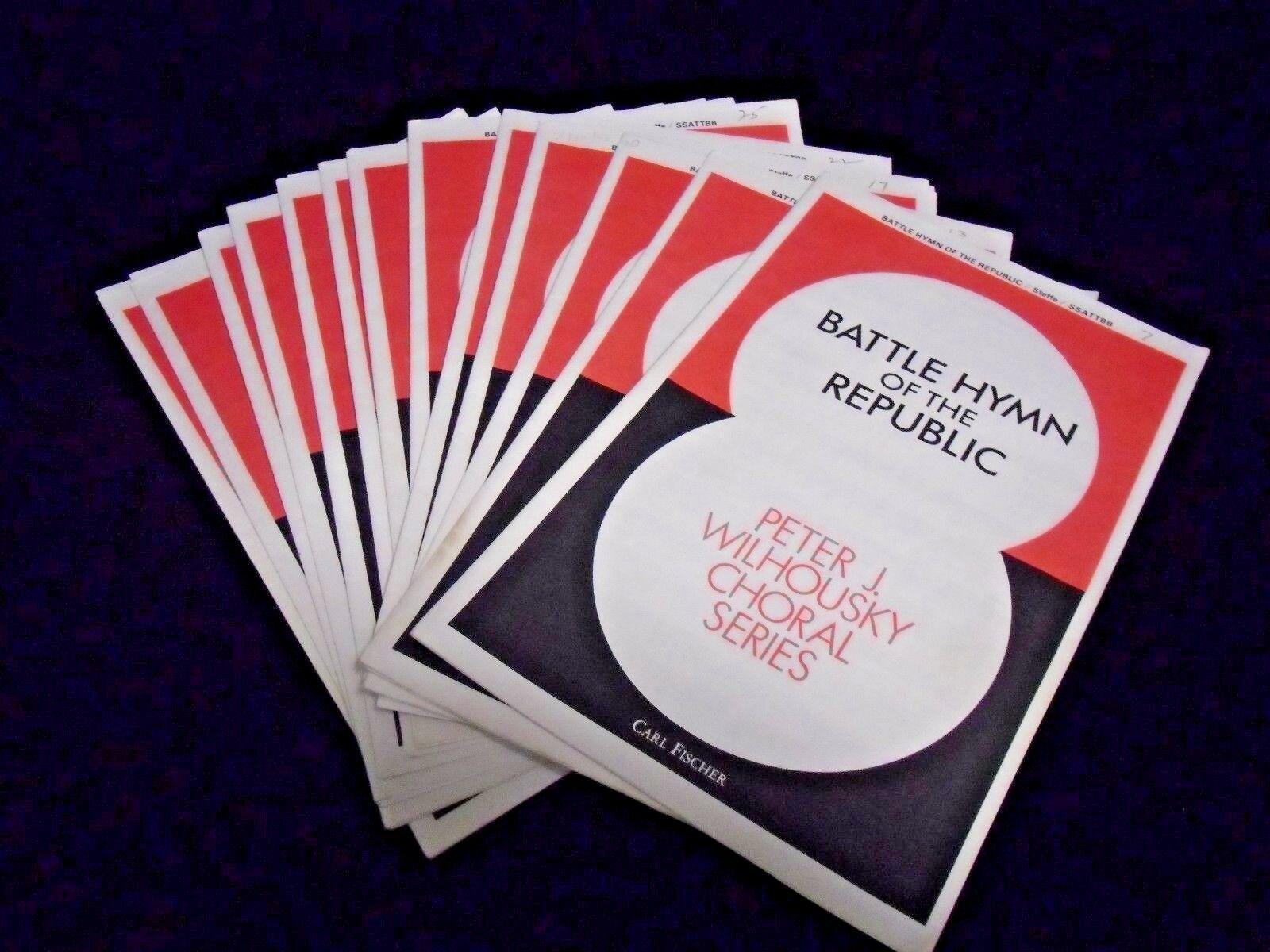 Battle Hymn of the Republic Peter J Wilhousky Choral Series Music w Lyrics 13 pc