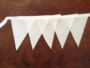 Mini Fabric gingham bunting 3mt weddings party decoration bedroom 18 flags
