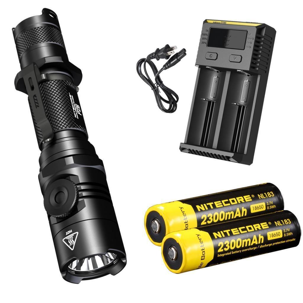 NITECORE P26 1000 Lm Infinite Brightness Tactical LED Flashlight Premium Bundle