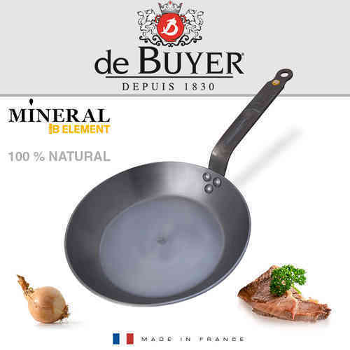 de Buyer - Mineral B Element - runde Eisenpfanne 24 cm