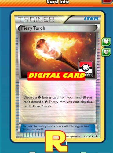 Fiery Torch League FOIL - for Pokemon TCG Online DIGITAL ptcgo in Game Card