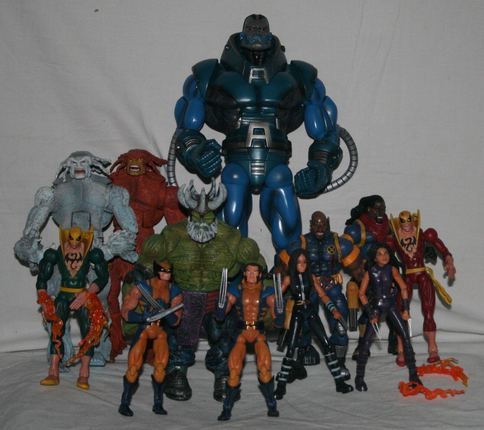 Marvel legends series 12 2005 BAF Apocalypse complete set regular and variants