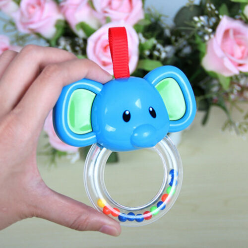 Sweet Cute Elephant Cattle Shape Cute Hand Bell Baby Hanging Rattles Kid Toys