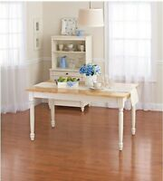 Better Homes And Gardens Autumn Lane Farmhouse Dining Table White & Natural