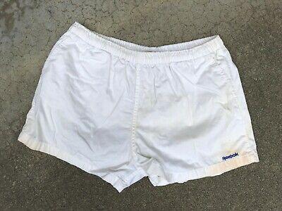 Amabile Reebok Uomo Vintage Anni 80 Anni 90 Cotone Ricamato Palestra Rétro Shorts | Xl