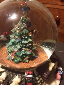 image is loading christopher radko christmas musical snow globe 034 santa - Christmas Musical Snow Globes