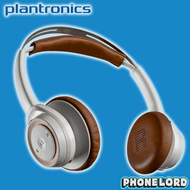 Genuine Plantronics BackBeat Sense Bluetooth wireless headphones White Tan
