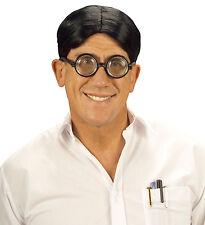 HEAD parrucca e occhiali specifiche Geek studente Divertenti Novità adulta