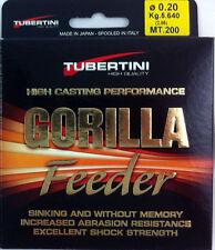 FTM Tubertini Gorilla Feeder Line 200m Various Strengths Fishing Tackle Max