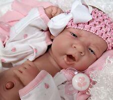 AWW! BUNNY LV Baby Girl! Berenguer LifeLike Newborn Reborn Pacifier Doll +Extras