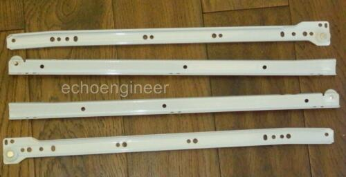 2 SETS OF TOP QUALITY BOTTOM FIXING STEEL DRAWER RUNNERS 450mm LONG