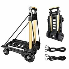 Luggage Cart Folding Portable Dolly Hand Truck 70kg155lbs Adjustable Handle