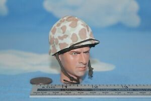 ALERT-LINE-MODELS-1-6TH-SCALE-WW2-USMC-M1-HELMET-amp-M1942-CAMO-COVER-AL100021