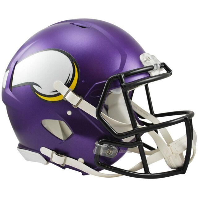 Minnesota Vikings NFL Riddell FS Matte Purple Authentic Speed Football  Helmet 89f86fb3bd1