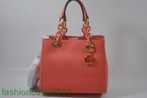 9e7c5c723fb9 New With Tag MICHAEL Kors Cynthia Small NS Leather Satchel Bag ...