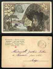 Cartolina / Postcard S.I.P. SIP LIBERTY Art Nouveau - VG 1906 x Boussan Francia