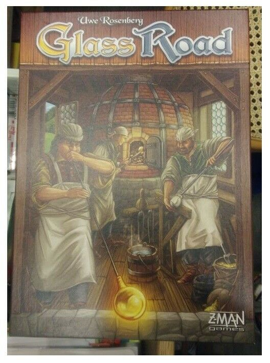 Uwe pinknberg  Glass Road, Boardgame by Z-Man Games, USED