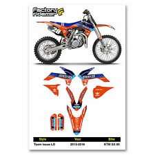 2013-2016 KTM SX 85 Team Issue LO Motocross Graphics Dirt Bike Graphic Decal