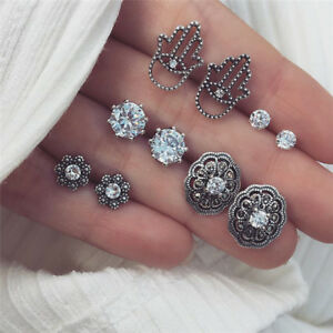 5Pair-Set-Bohemian-Crystal-Zirconia-Earrings-Ear-Studs-Earrings-Jewelry-WedYNFK
