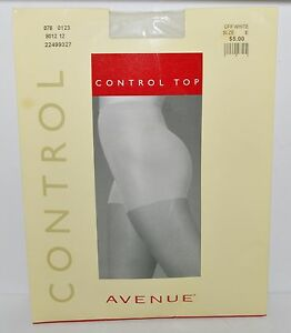 0ae6c388385 Avenue CONTROL Top SIZE E OFF WHITE Sandalfoot DAY SHEER Pantyhose ...