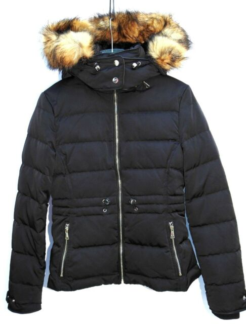 ZARA NEW RED PUFFER JACKET WITH HOOD SIZE XS