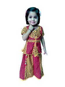 577e072c87 Image is loading Kids-Lehnga-Choli-Indian-Handmade-Girls-Ethnic-Wear-