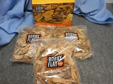 NIB BOBBY FLAY SET OF 3 SMOKING CHIPS WOOD BAGS GRILLING BBQ OUTDOOR COOKING
