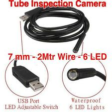 6LED 2m USB Security Waterproof Borescope Endoscope Inspection Snake Tube Camera