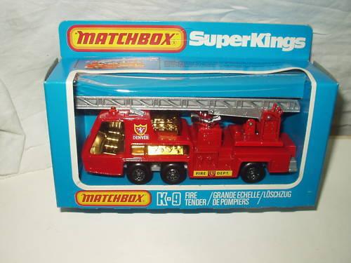 MATCHBOX SUPERKINGS FIRE TENDER K9 1981 MIB