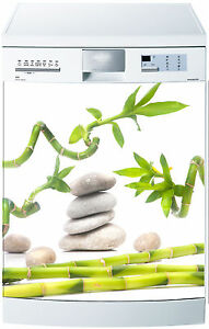 Sticker lave vaisselle Bambous 60x60cm réf 080