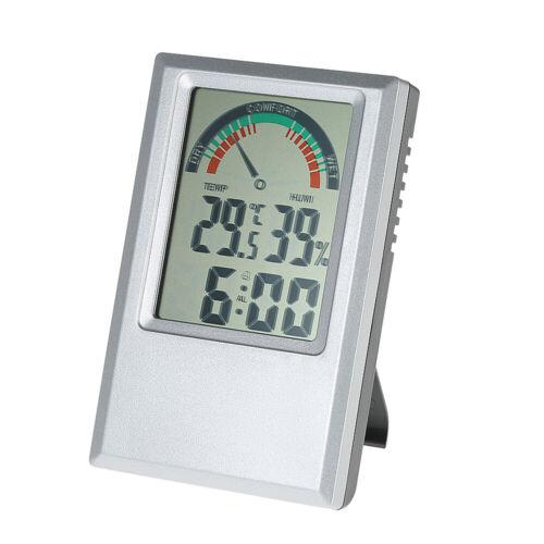 Digital Thermometer Hygrometer Alarm Clock for Wall Desktop Time Display H6S5