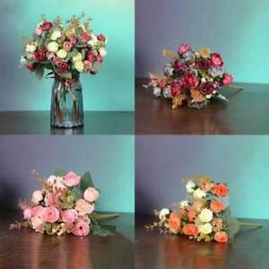 2-Bouquets-42-Head-Artifical-Rose-Silk-Flower-Home-Bouquet-Wedding-Decor-US