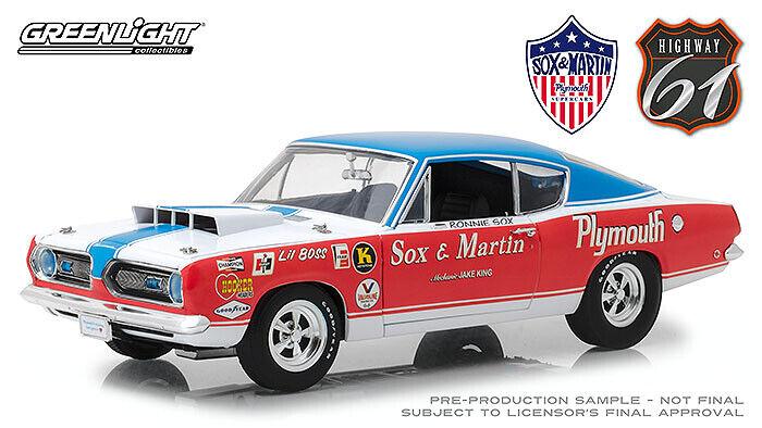 1 18 Highway 61 1968 Plymouth Barracuda SOX & MARTIN 18003