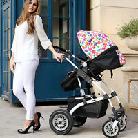 Luxury Baby Stroller Cart High View Pram Folding Pushchair For Outdoor 5 Colors
