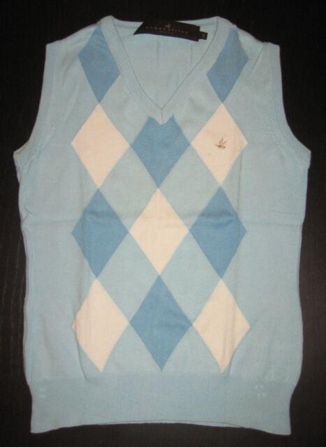 maglia/smanicato/t-shirt BROOKSFIELD donna-originale 100%-40/XS-S-cotone-rombi