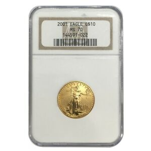 2001-1-4-oz-10-Gold-American-Eagle-NGC-MS-70