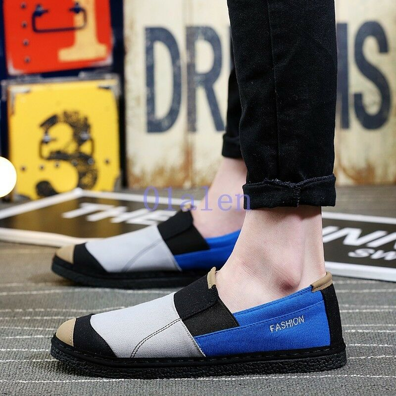 Slip On Loafer Splice Mens Comfort Home Fall Pump Shoes Driving Permeable 2019